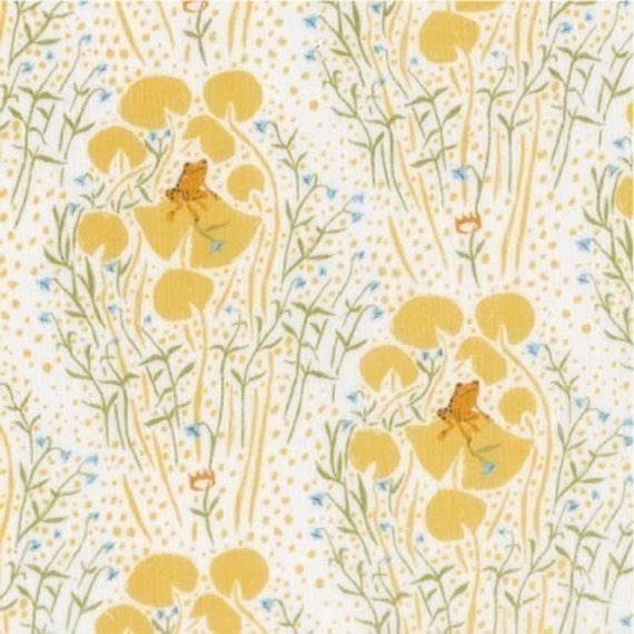 Heather Ross Far Far Away - Frog Prince (Yellow) Fabric- Half  Yard