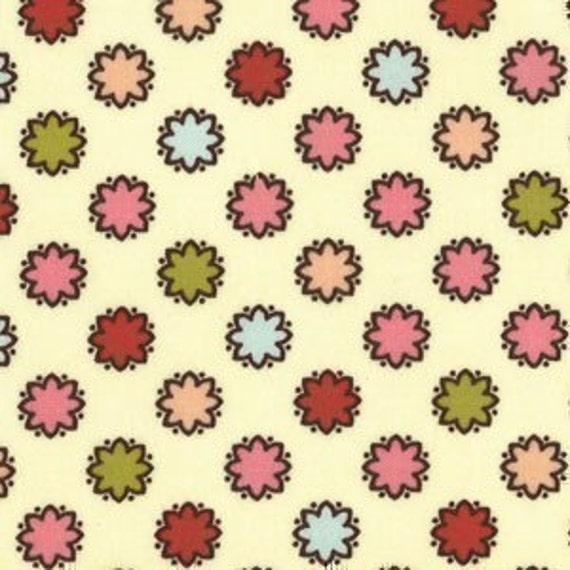 Michael Miller Ginger Blossom Vintage Dots Breeze Fabric - By the Yard
