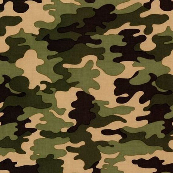 Robert Kaufman Patriots Jungle Camo Fabric - By the Yard