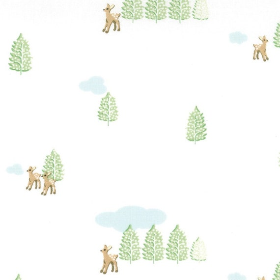 SALE Lauren and Jessi Jung, Hideaway, Hideaway Glade Snow Fabric - By the Yard