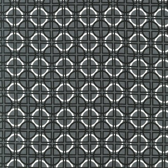 Robert Kaufman Metro Living, Squares and Circles Fabric in Pewter - By the Yard