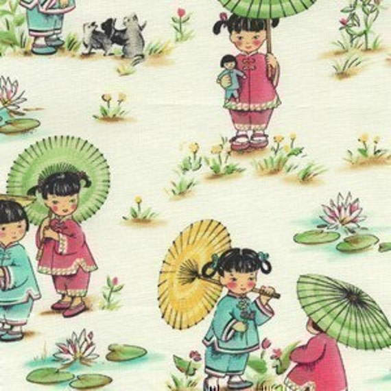 Michael Miller China Doll Fabric - By the Yard