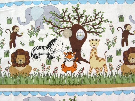 2ModMoms Baobab Jungle Animal Stripe Flannel Fabric - By the Yard