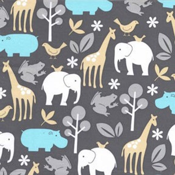 Michael Miller Zoology Animals Sea Fabric- By the Yard