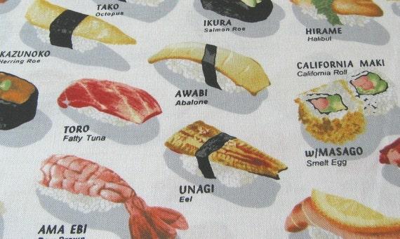 Sushi Menu Fabric - By the Yard