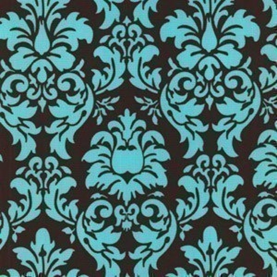 Michael Miller Dandy Damask Spa Fabric - Remnant Size 30 Inches by 44 Inches