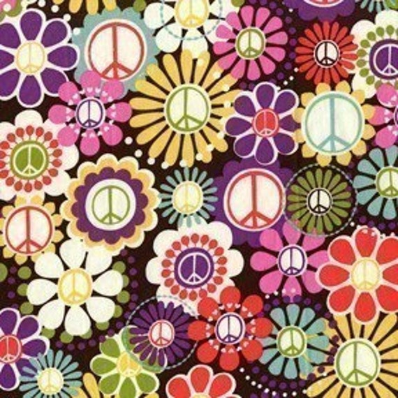 Michael Miller Peace Multi Fabric - By the Yard