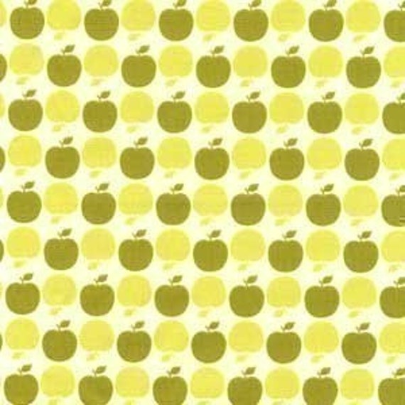 Sandi Henderson for Michael Miller Apple Dot Green Fabric - By the Yard