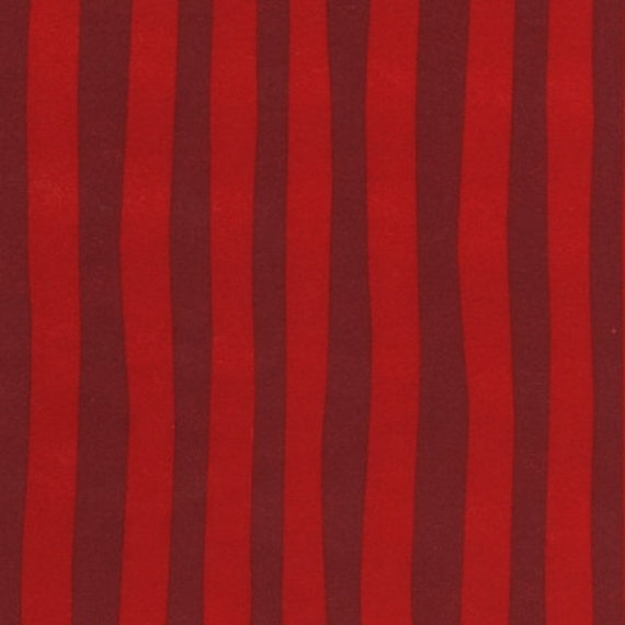 Dr. Seuss, Stripe in Claret FLANNEL Fabric - By the Yard