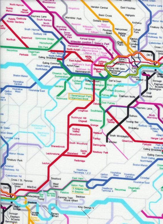 London Underground Map Fabric - By the Yard