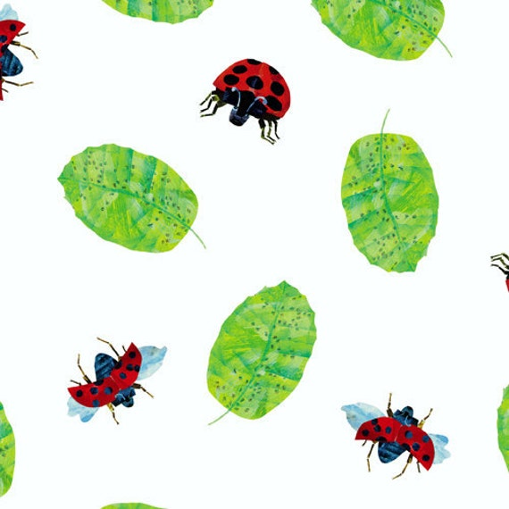 Eric Carle, The Grouchy Ladybug, Ladybugs Allover Fabric - By the Yard