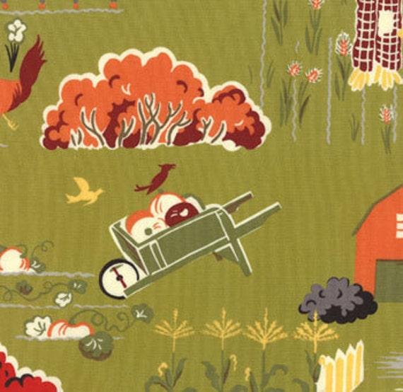 Sentimental Studios, Farmyard, Scenic, Green Acres Fabric - By the Yard