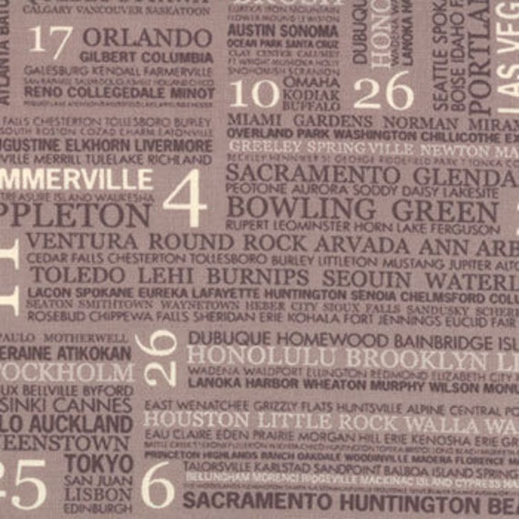Sweetwater Hometown, Town Square Mist Fabric - By the Yard