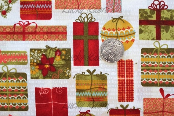 Basicgrey, Jovial, Christmas Presents Fabric - By the Yard