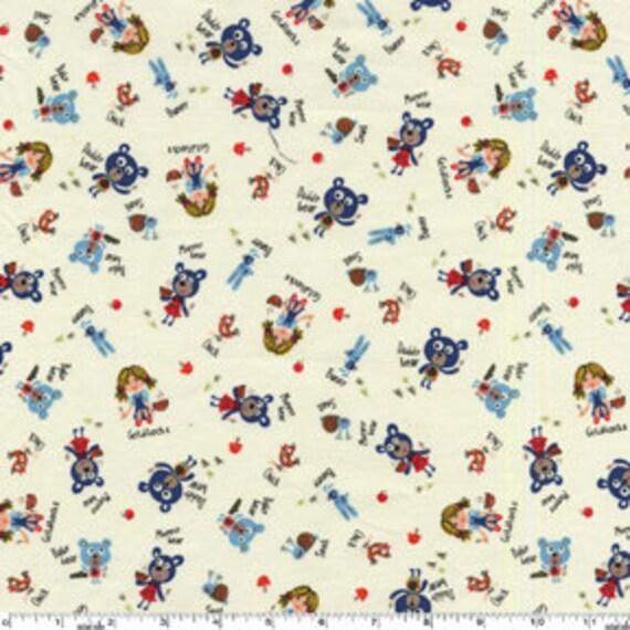 Michael Miller Baby Bear Cream Fabric - By the Yard