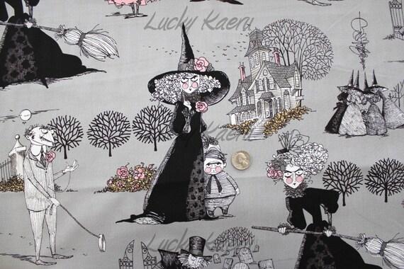 Alexander Henry, Ghastlies, The Ghastlies on Smoke Gray Fabric - By the Yard