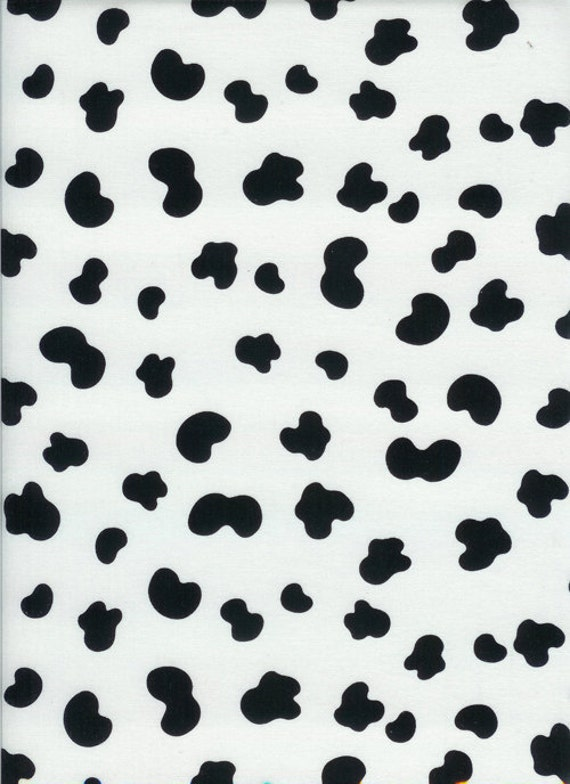 Timeless Treasures Cow Skin Fabric in White - By the Yard
