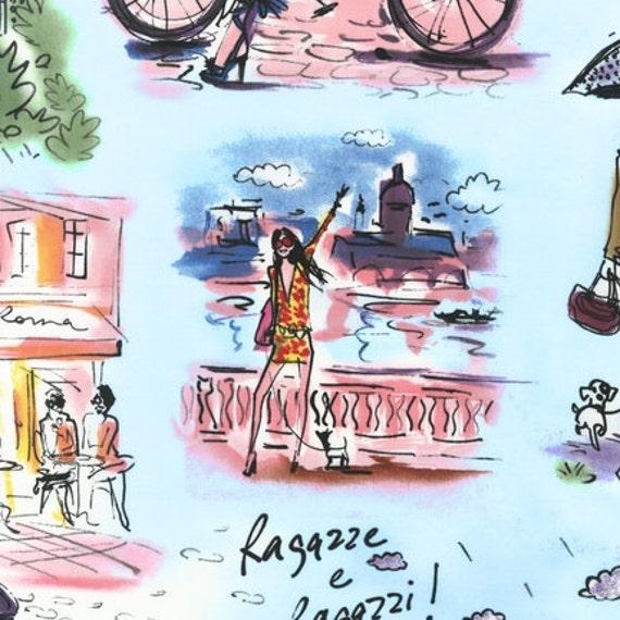 Izak Zenou, Who's That Girl, Main Fabric in Sky - By the Yard