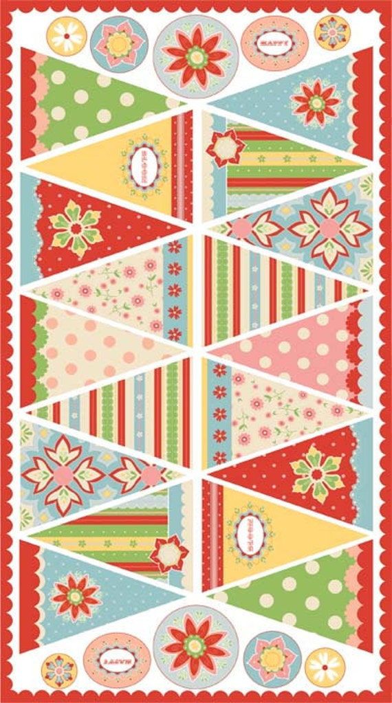 Riley Blake Designs, Delighted, Multi Panel Fabric - By the Panel