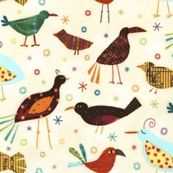 Robert Kaufman Creatures and Critters Birds Tropical Fabric - By the Yard