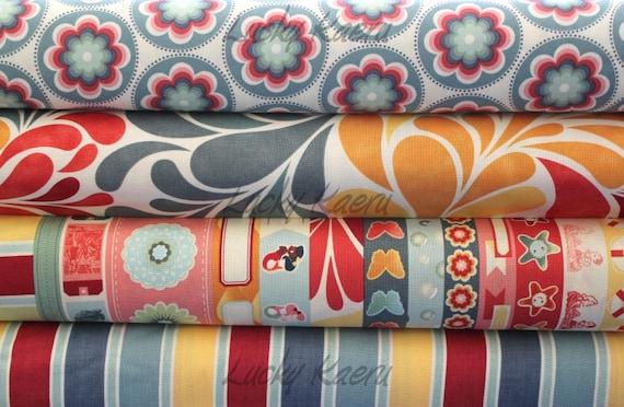 Cosmo Cricket, Salt Air, Half Yard Cotton Fabric Set