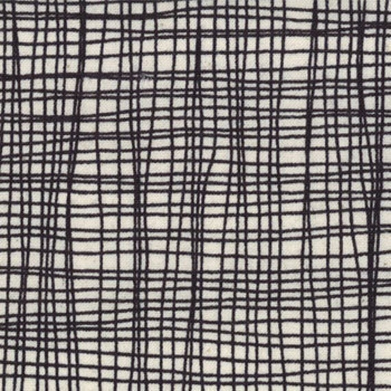 NEW Lucie Summers,  Summersville, Check Weave Coal Fabric - By the Yard