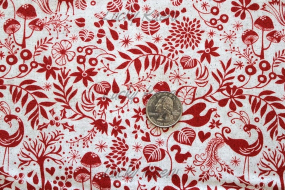 NEW Basicgrey, Blitzen, Creatures Red Fabric - By the Yard
