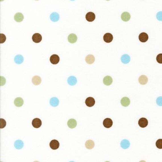 Robert Kaufman Cozy Cotton Polka Dots Chocolate FLANNEL Fabric - Reserved for Karen