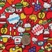 Hello Kitty Sweets on Red Japanese Fabric - Half Yard