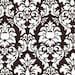 Michael Miller Dandy Damask Brown Fabric - By the Yard