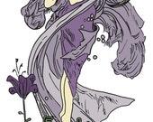 Mucha Inspired Bookplate (Purple)