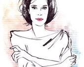 Laetitia Sadier Illustration Print