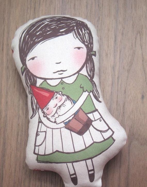 Gnome Girl plush GREEN