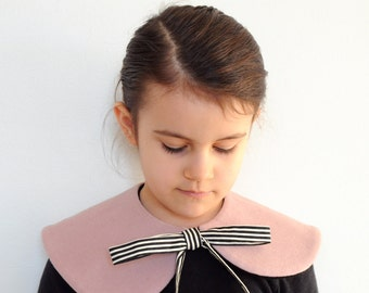 capelet - pink stripe