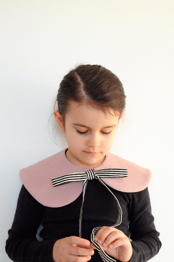 capelet - pink stripe