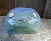 Hand thrown, ceramic, critter salt cellar-SALE-