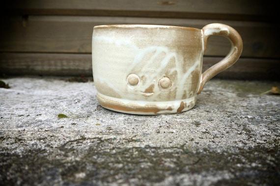 hand thrown, ceramic critter mug