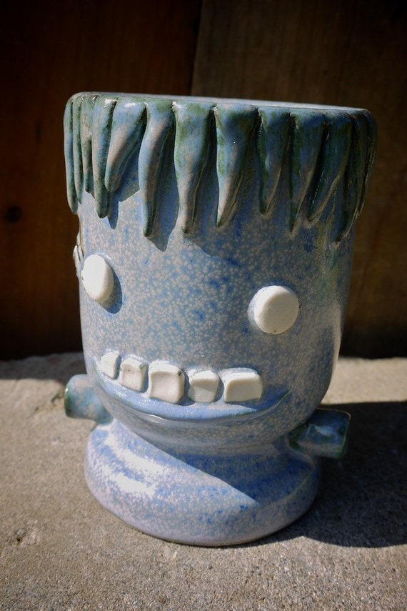 Frankentiki handmade stoneware tiki mug