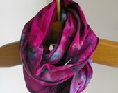 Jersey Circle Scarf : Hand Dyed Infinity Scarf (Coronet)