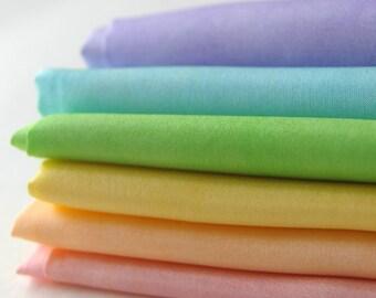 Playsilk Play Set : Fairy Silkies, Watercolour Palette (set of 6, 11 x 11 inch playsilks)