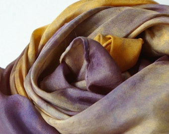 Natural Play Silk : Heart of the Pansy (35 inch Hand Dyed Waldorf Playsilk )