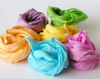 Waldorf Play Silks: Soft as Spring Palette (Set of 6, 11 x 11 Fairy Silkies)
