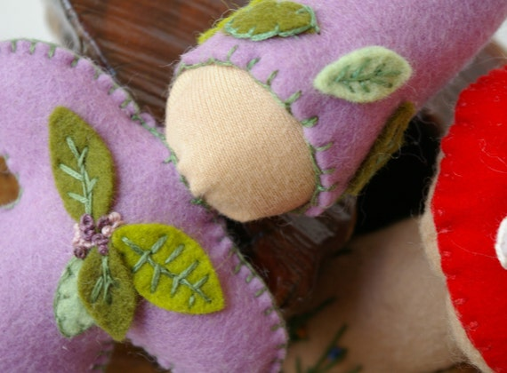 Wool Felt Gnome Doll :Claire (Gnomes to Go, All Natural Wee Friend)
