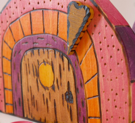 SALE Save 30 % Wooden Fairy Door : Lily Cottage (Garden or Home Decor)
