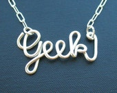 Geek Necklace - all sterling silver