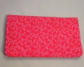 Checkbook Cover Fabric Soft Red