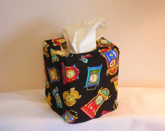 Tissue Box Cover, Clocks
