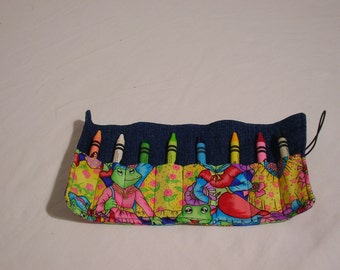Childrens Crayon Roll-Great for travel