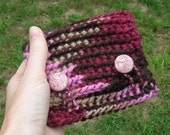burgundy brown button wallet