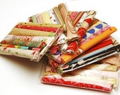 Colorful Patterned Fabric Scrap Pack\/Grab Bag